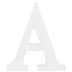 Whitewash Wood Letter - A