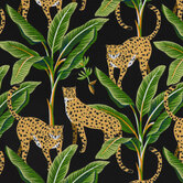 Enzel Ebony Leopards Outdoor Fabric