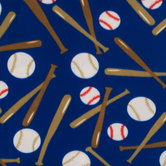 Baseballs Fleece Fabric