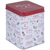 Christmas Phrases Tin Box - Medium