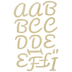 Gold Ultra Glitter Alphabet Iron-On Appliques