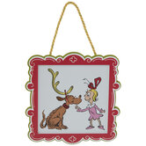 Grinch Max & Cindy Lou Who Frame Ornament