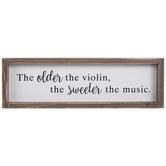 Violin Music Wood Decor