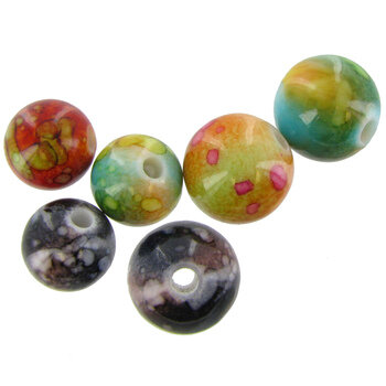 Assorted Colors Round Bead Mix