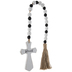 Blessed Wood Wall Cross With Beads