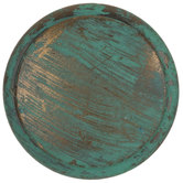 Green Round & Flat Metal Knob