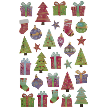 Bright Holiday Icons 3D Stickers