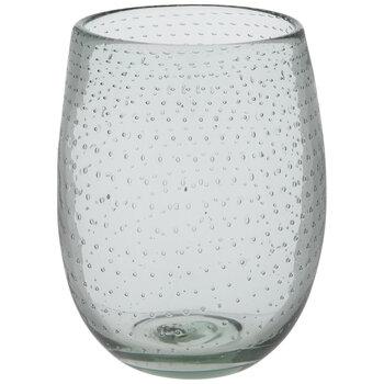 Green Bubble Dot Stemless Glass