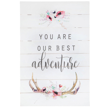 Our Best Adventure Floral Wood Wall Decor