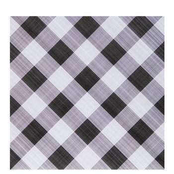 "Black Diagonal Gingham Scrapbook Paper - 12"" x 12"""