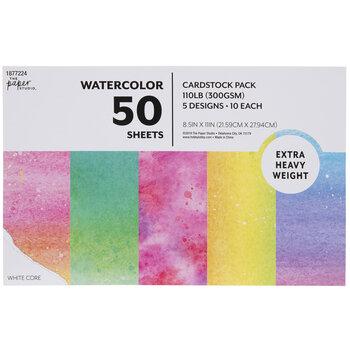 """Watercolor Cardstock Paper Pack - 8 1/2"""" x 11"""""""