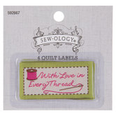 With Love In Every Thread Quilt Labels