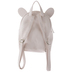 White Iridescent Bunny Quilted Backpack