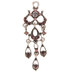 Purple Rhinestone Ornate Drop Pendant
