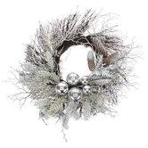 Twig, Pinecone & Ornament Wreath