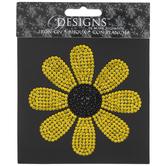 Sunflower Rhinestone Iron-On Applique