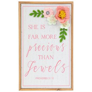 Proverbs 31:10 Wood Wall Decor