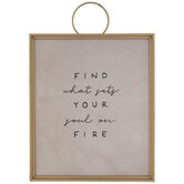 Sets Your Soul On Fire Wood Wall Decor