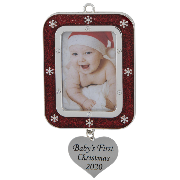 2020 First Christmas Picture Frame Baby's First Christmas 2020 Frame Ornament | Hobby Lobby