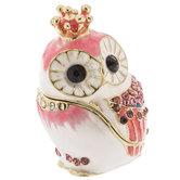 Owl With Crown Jewelry Box