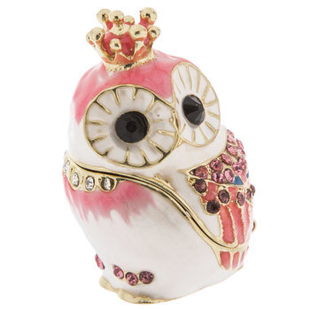 Owl With Crown Jewelry Box