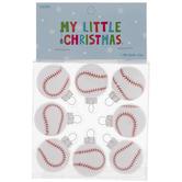 Mini Baseball Round Ornaments