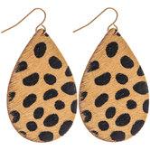 Cheetah Print Leather Earrings