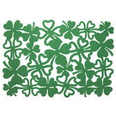 Green Shamrock Felt Placemat