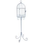 Blue Metal Wire Birdcage
