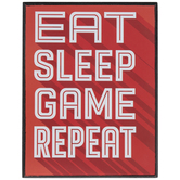 Eat Sleep Game Repeat Wood Decor