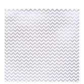 "Metallic Silver Chevron Scrapbook Paper - 12"" x 12"""