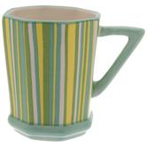 Striped Octagon Mug