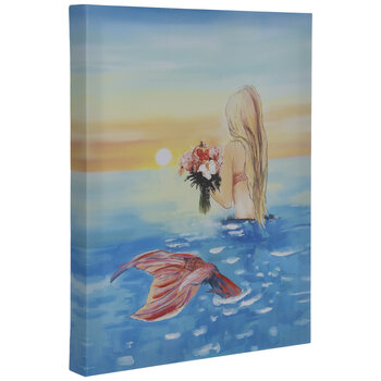 Mermaid Sunset Canvas Wall Decor