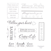Inspirational Phrases Foil Stickers