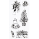 Winter Farmhouse Clear Stamps