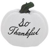 White So Thankful Pumpkin