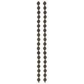 Ridged Medallion Bead Strands - 9.5mm x 7.1mm