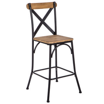 Crossed Strip Metal Bar Stool