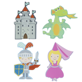 Knight & Dragon Painted Shapes