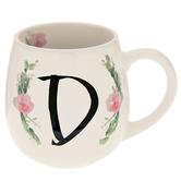 Floral Letter Mug