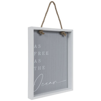 As Free As The Ocean Wood Wall Decor