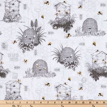 Vintage Beehive Duck Cloth Fabric
