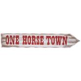 One Horse Town Arrow Wood Wall Decor