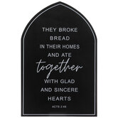 Acts 2:46 Arched Wood Wall Decor