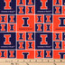 Illinois Block Collegiate Cotton Fabric