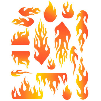 Blazing Flames Dry Transfer Decals