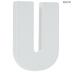 White Wood Letters U - 2
