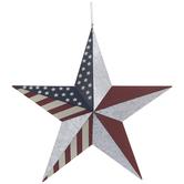 American Flag Star Metal Wall Decor