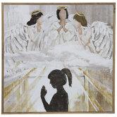 Praying Angels Wood Wall Decor