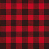 Red & Black Buffalo Check Vinyl Fabric